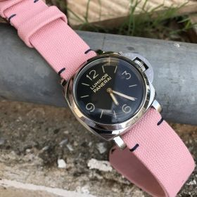 Pink Rolled Canvas Strap