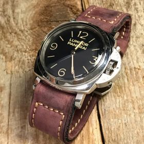 Buttero Plum Soft Leather Strap