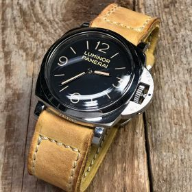 Buttero Pale Yellow Soft Leather Strap