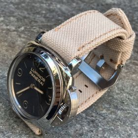 Cream Rolled Canvas Strap