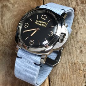 Light Blue Rolled Canvas Strap
