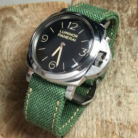 Forest Green Rolled Canvas Strap