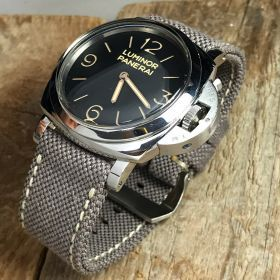 Brown Rolled Canvas Strap