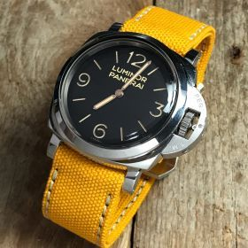 Yellow Rolled Canvas Strap