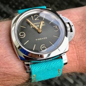 Turquoise Rolled Canvas Strap