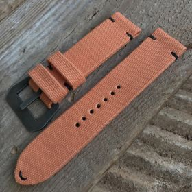 Light Orange Rolled Canvas Strap