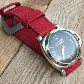 Red Rolled Canvas Strap