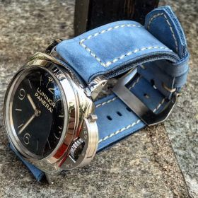 Buttero Light Blue Soft Leather Strap