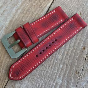 Red Cowhide Strap