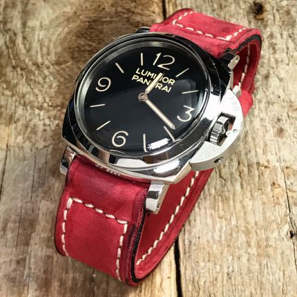 Buttero Red Soft Leather Strap