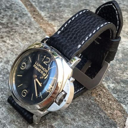 Pebbled Black Leather Strap