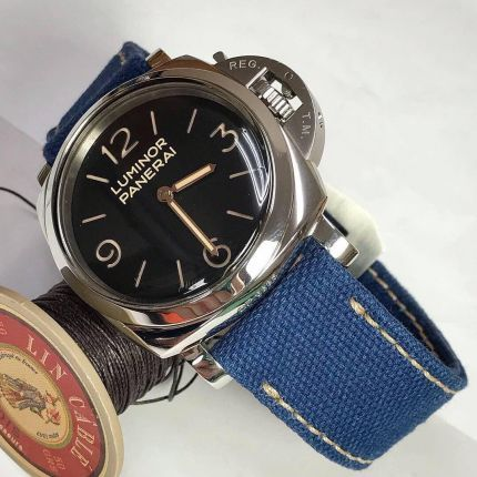 Blue Rolled Canvas Strap