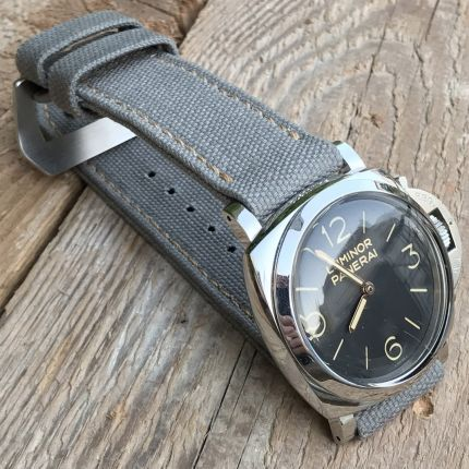 Grey Rolled Canvas Strap
