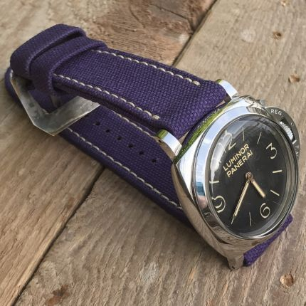 Purple Rolled Canvas Strap