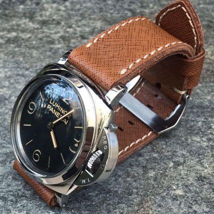 Saffiano Tan Leather Strap