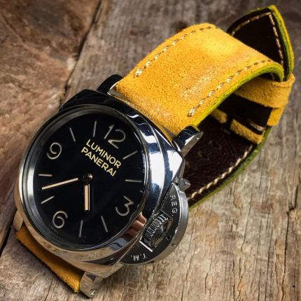 Yellow Suede Leather Strap