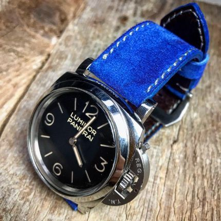 Royal Blue Suede Leather Strap